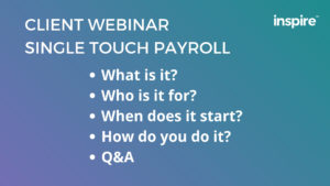 Setting up Single Touch Payroll using Xero - Webinar Agenda