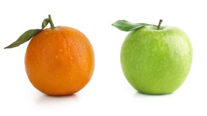 Change Accountants apples and oranges