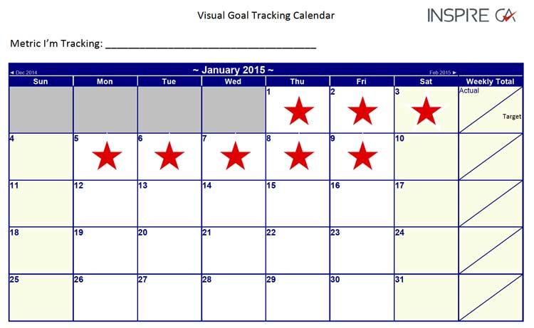 goal tracking calendar accountants brisbane